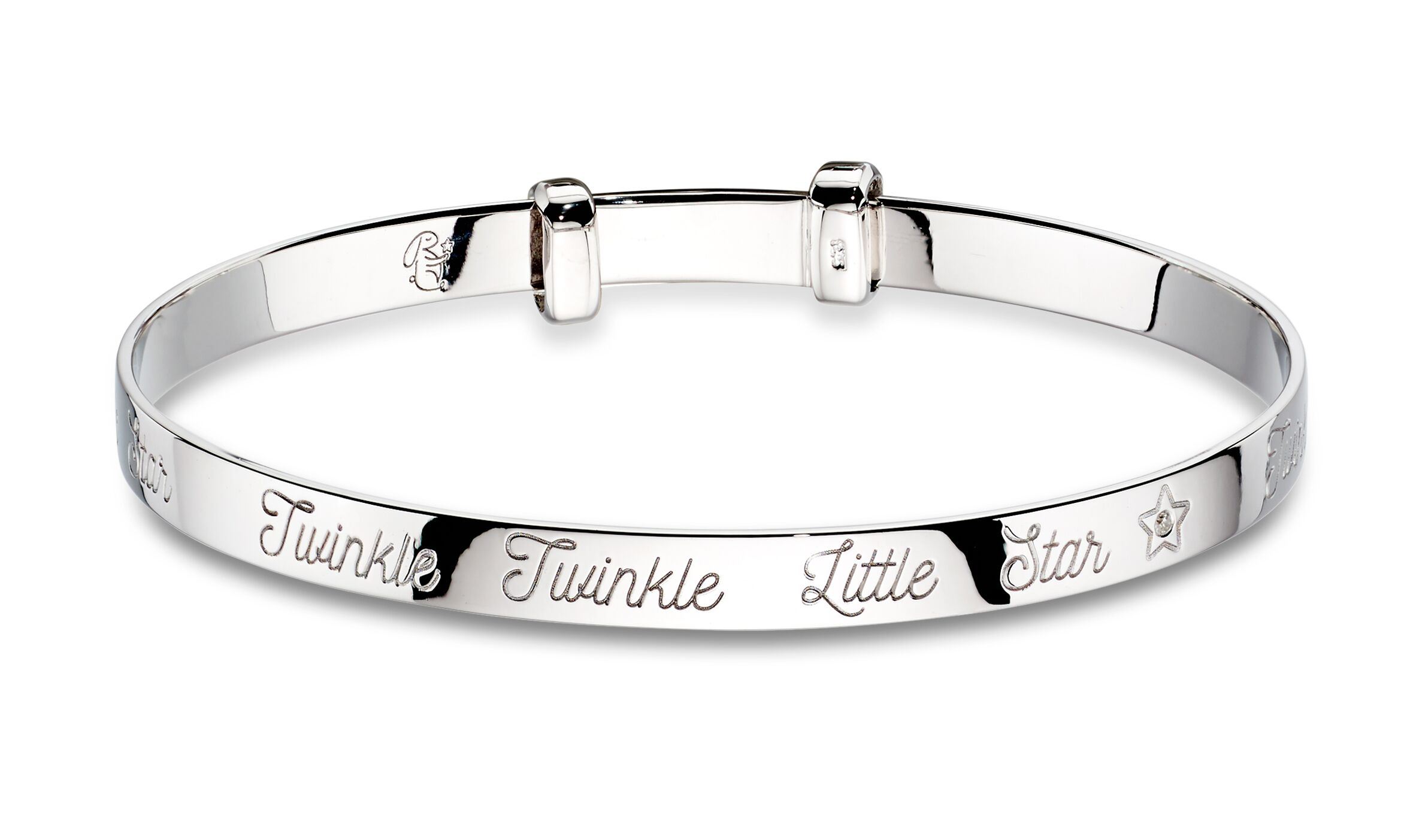 Silver Twinkle bangle back view