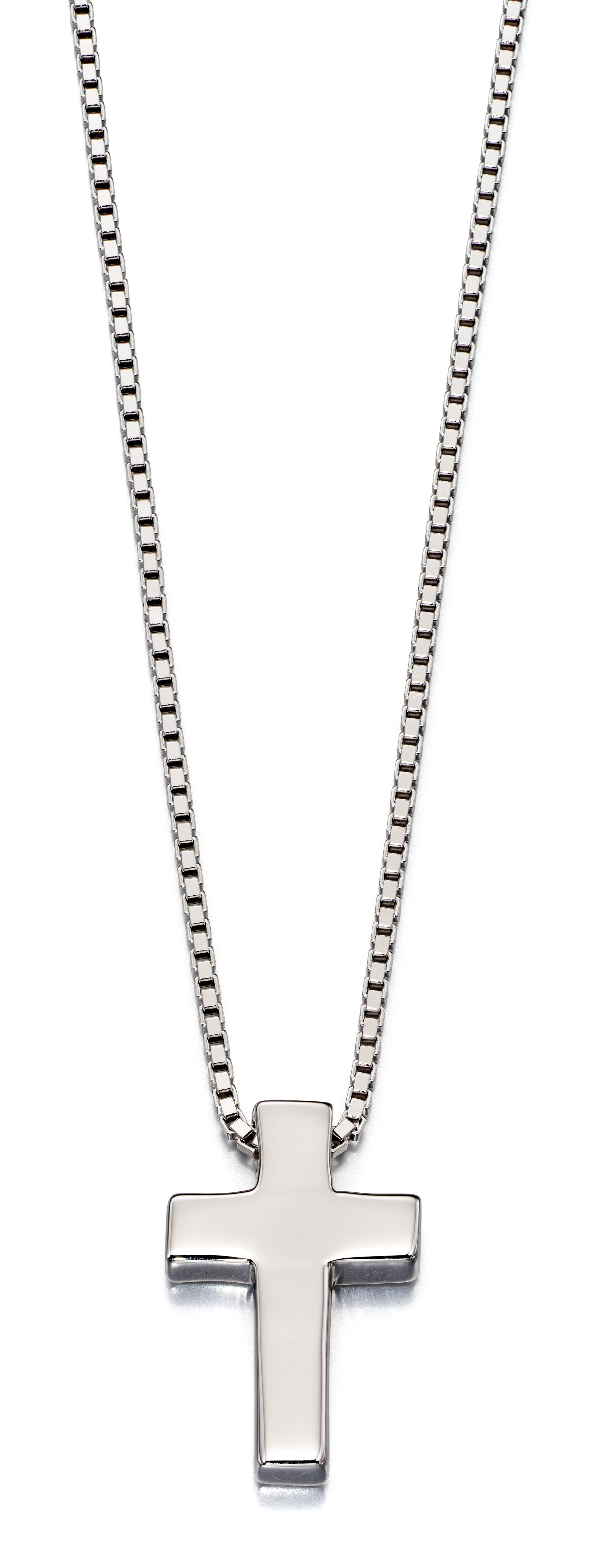 Thom Boys Silver Cross Necklace-Carats Jewellers