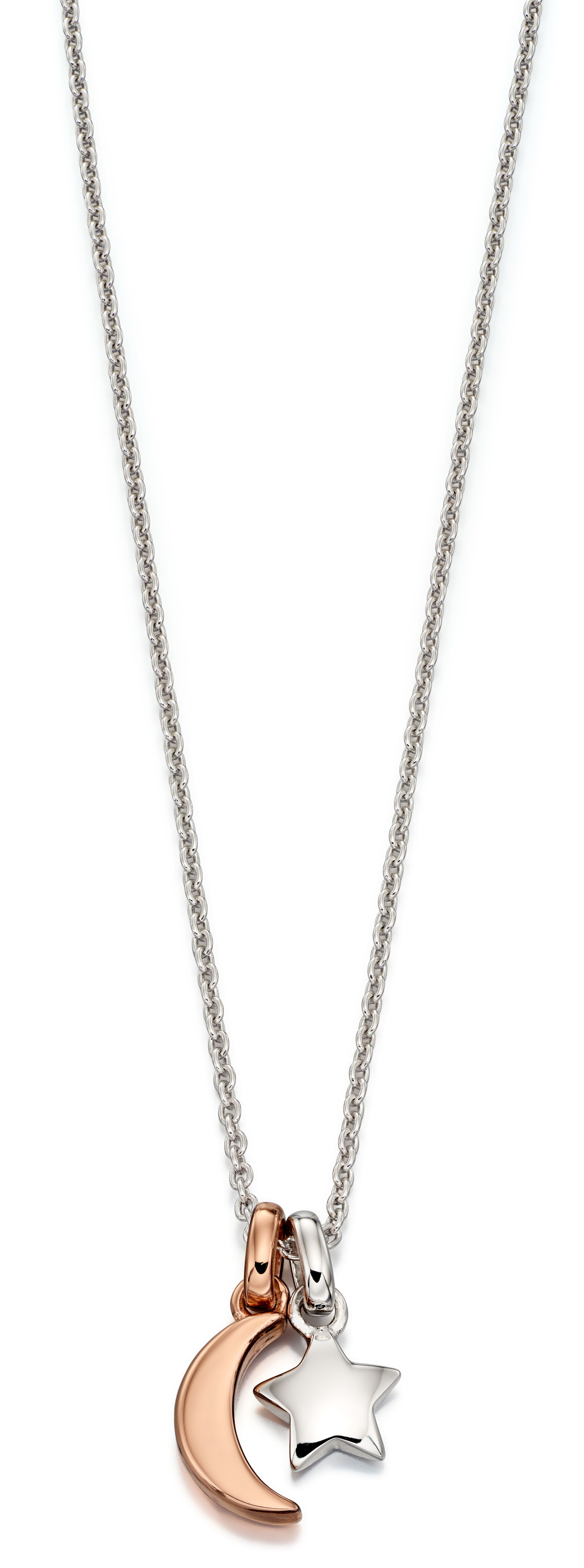 Collette Star and Moon Necklace-Carats Jewellers