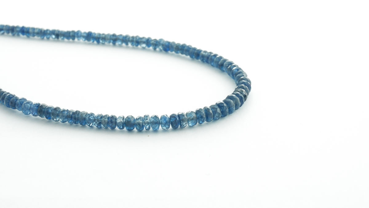 Faceted graduated blue sapphire bead necklet in Ipswich, Suffolk