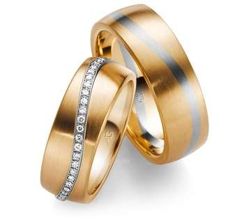 Gerstner ladies gold 2 color wedding band with diamonds in Ipswich, Suffolk