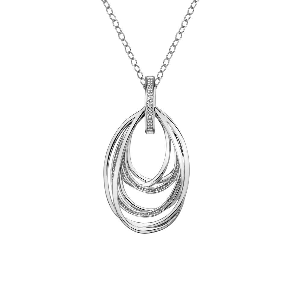 Silver 7 strand loop pendant- Carats Jewellers