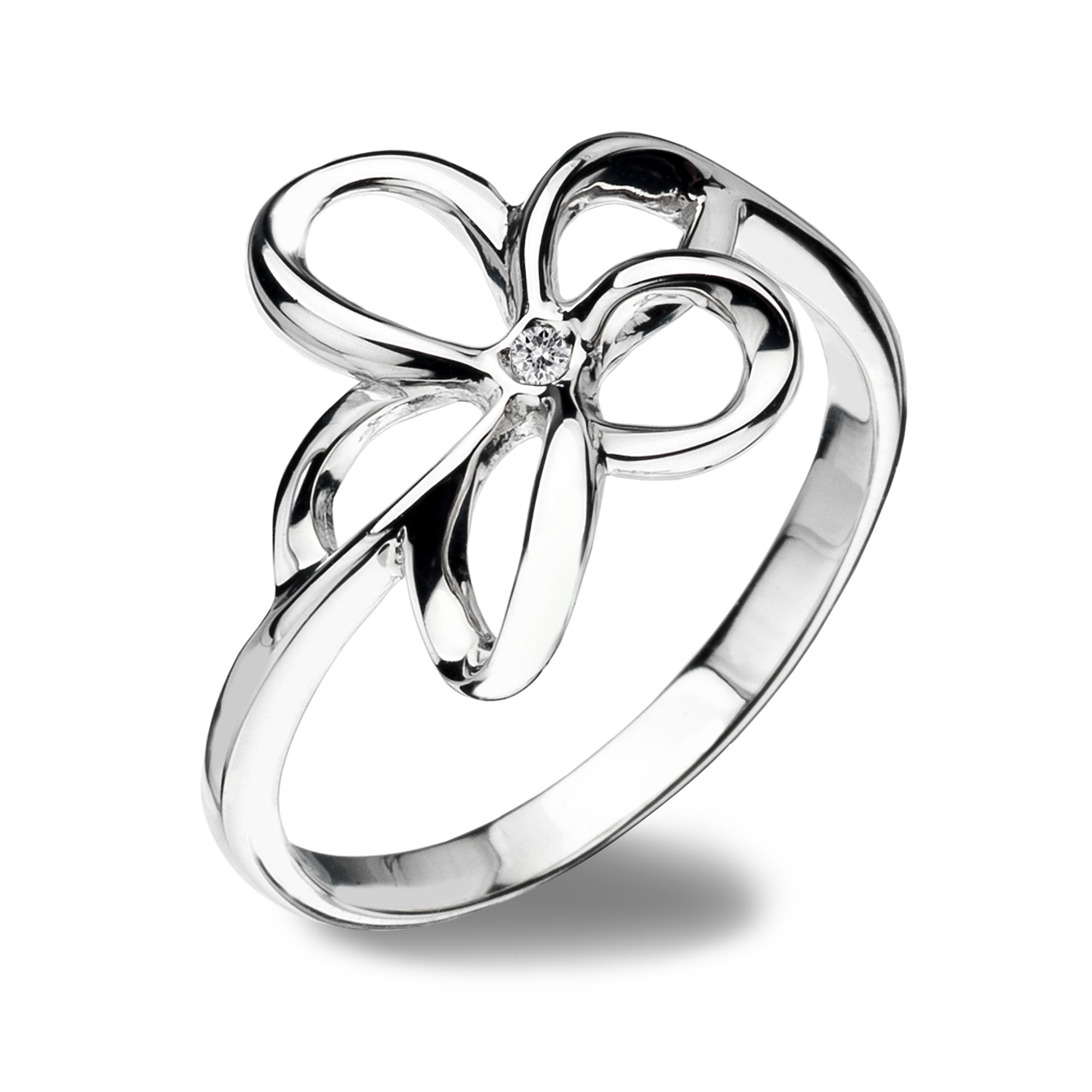 Silver open flower ring - Carats Jewellers