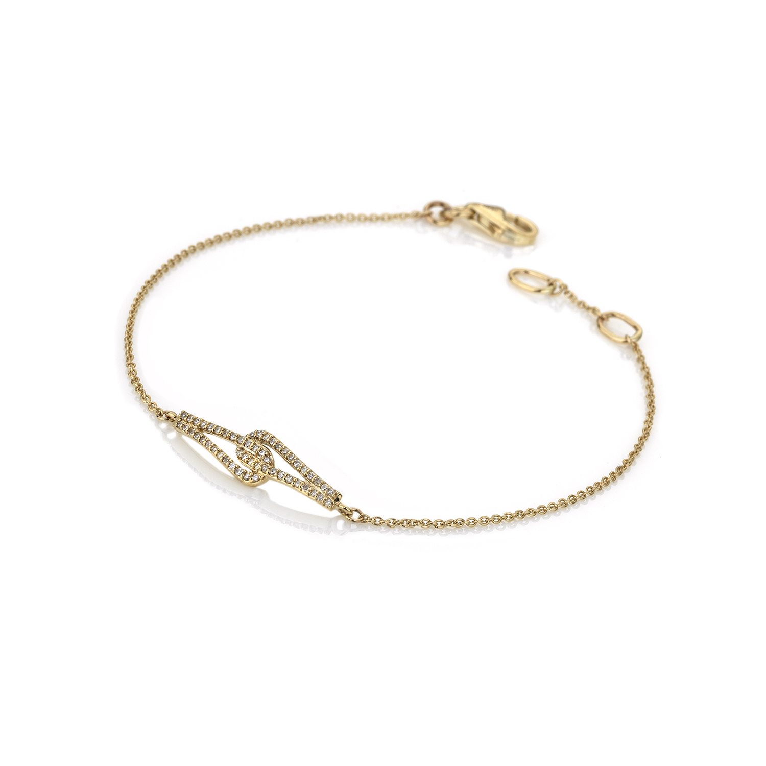 9ct yellow gold double linked loop bracelet - Carats Jewellers