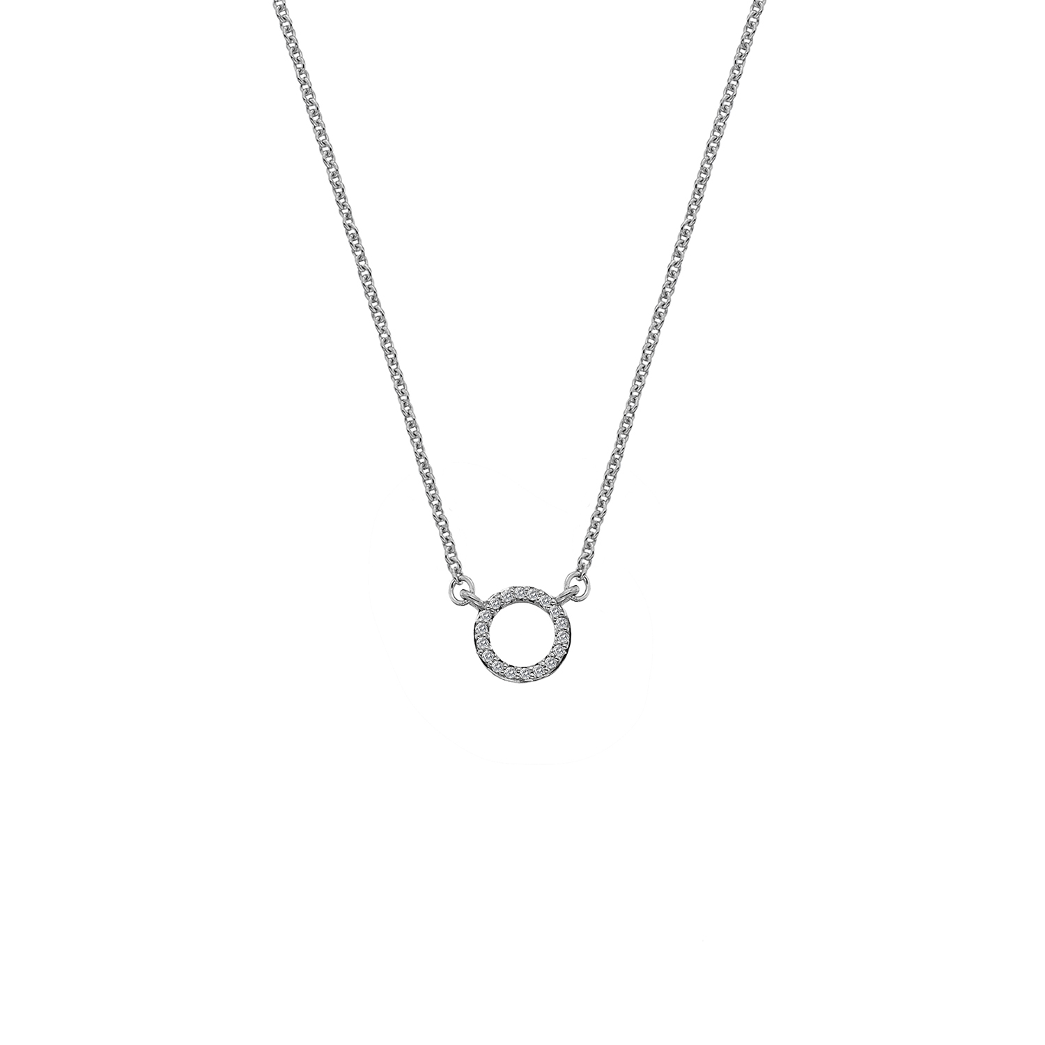 9ct white gold diamond polo necklace - Carats Jewellers