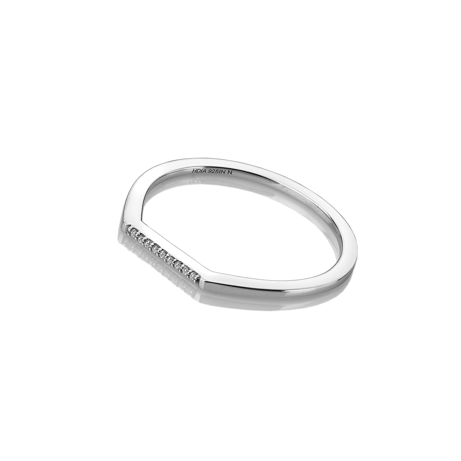 9ct white gold thin diamond ring - Carats Jewellers