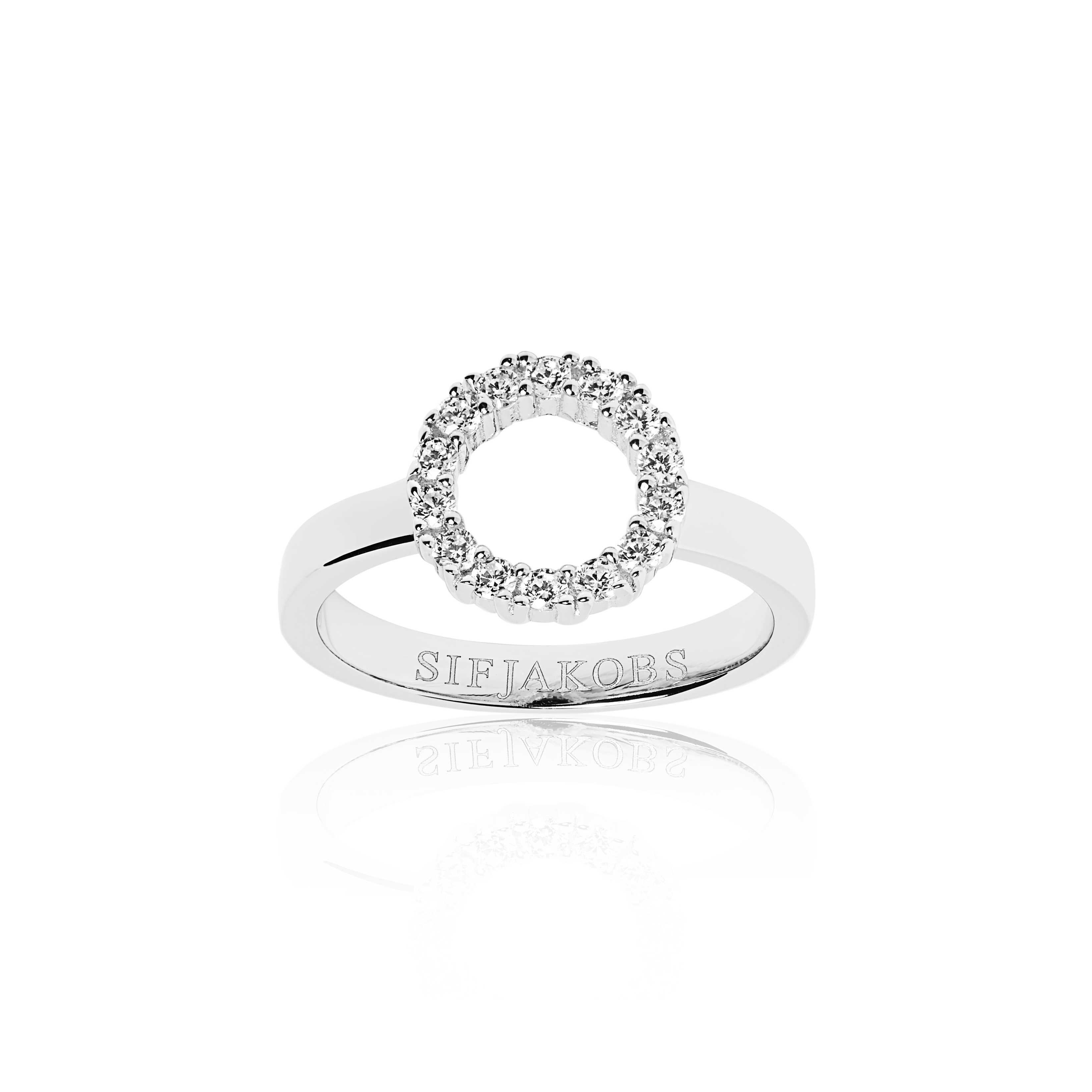 Silver cubic zirconia polo ring-Carats Jewellers