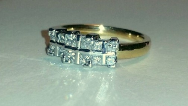 HANDMADE PRINCESS DIAMOND RING
